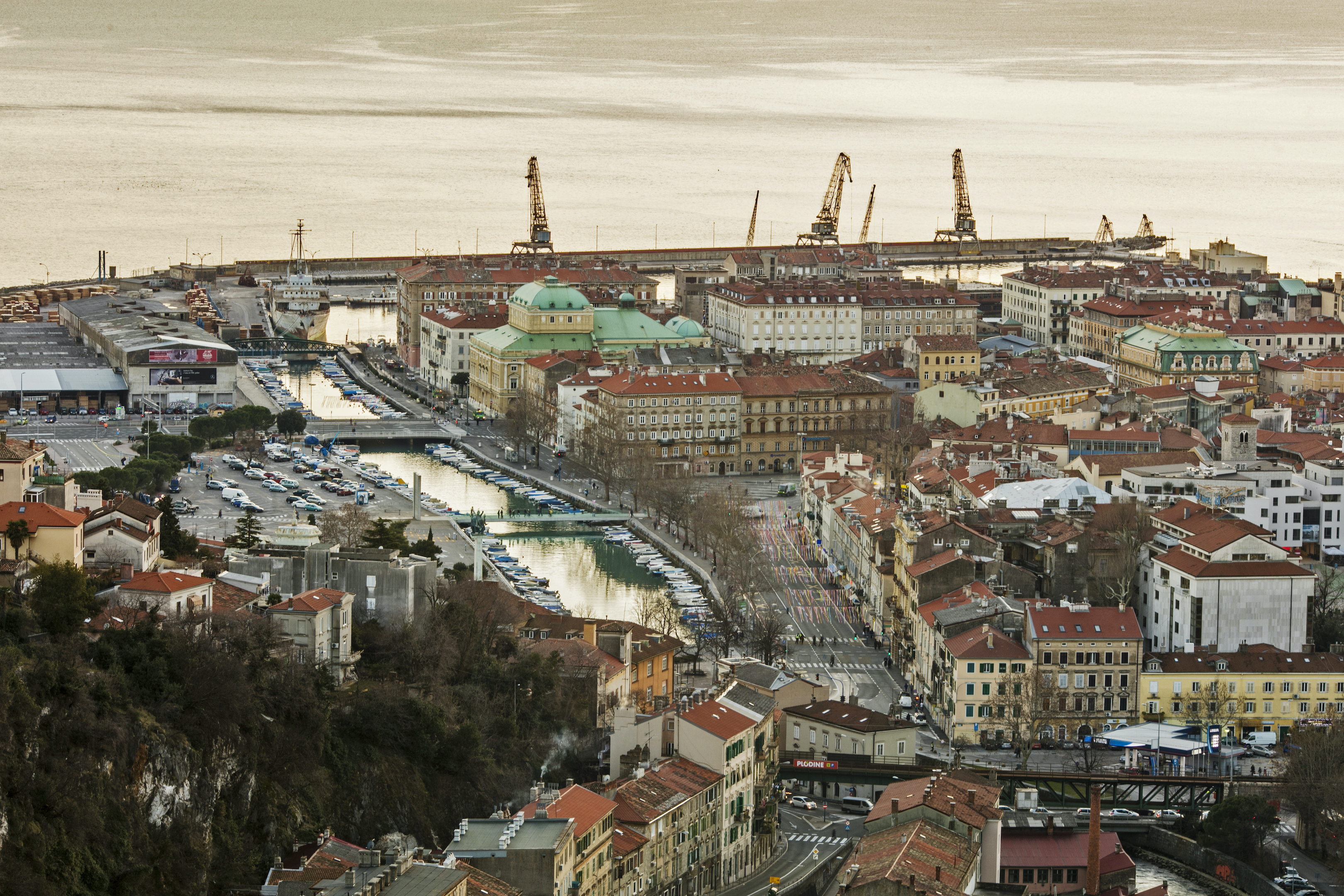 Rijeka city bird-eye-view